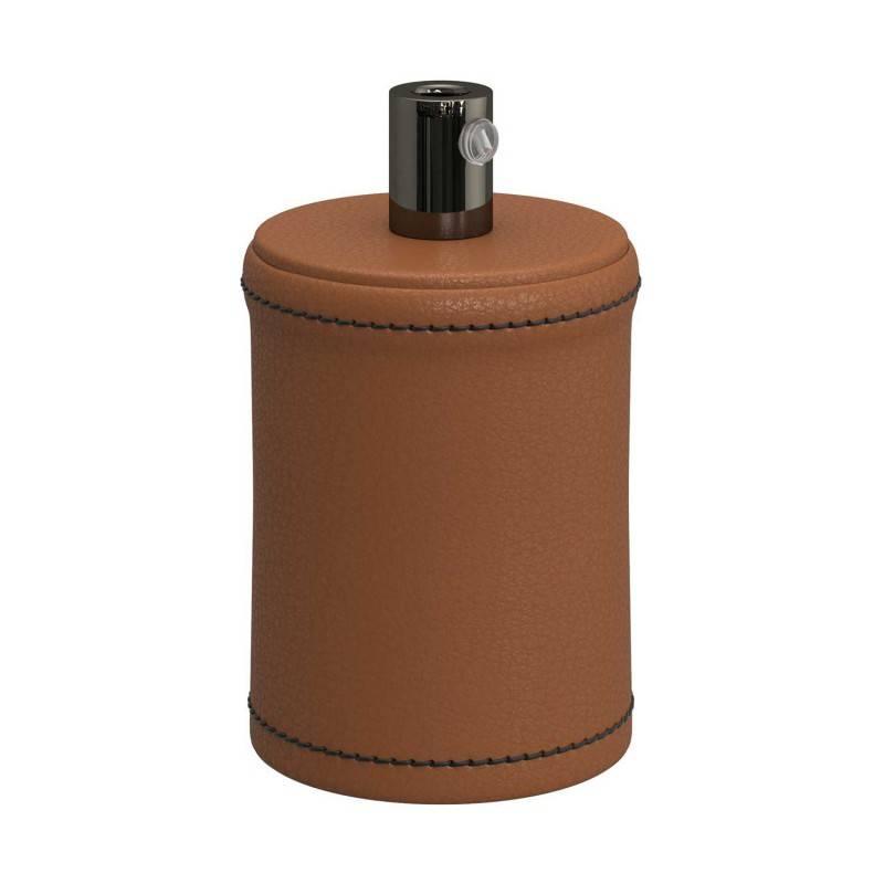 Kit douille E27 en bois recouvert de cuir