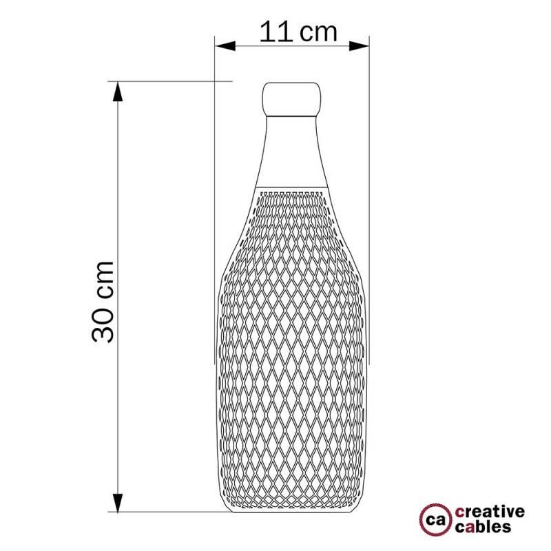 Abat-jour Cage bouteille Magnum en métal