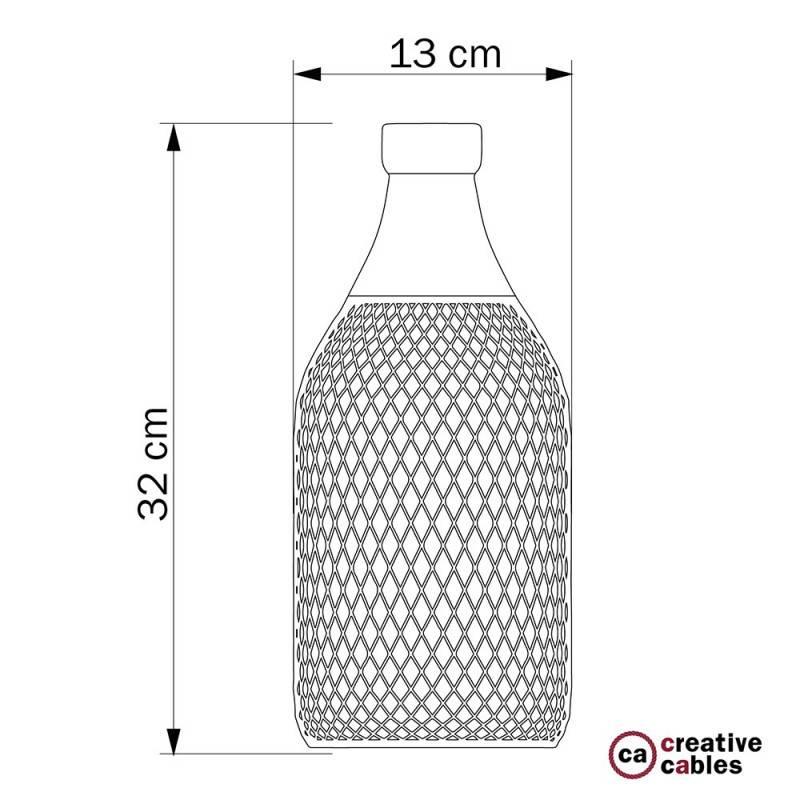 Abat-jour Cage bouteille Jéroboam en métal