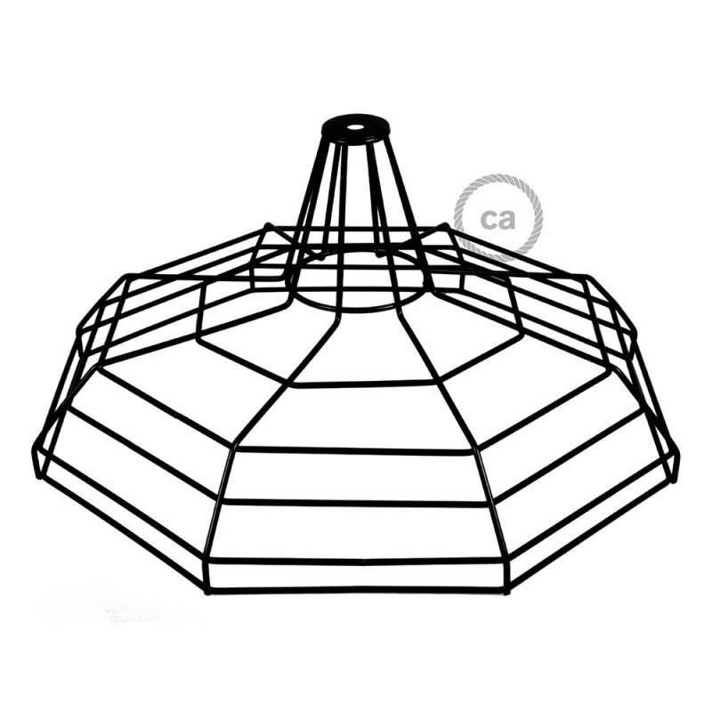 Abat-jour Cage XL Sonar en métal avec douille E27