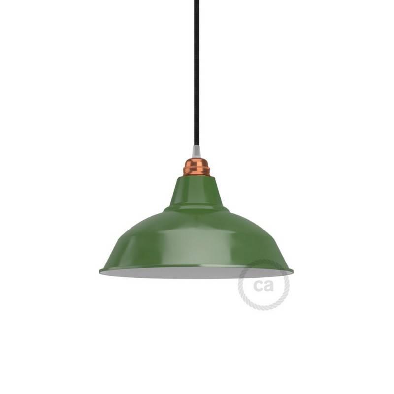 Abat-jour Bistrot E27 en métal peint, diamètre 30 cm