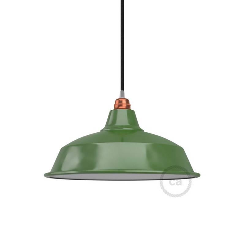 Abat-jour Bistrot E27 en métal émaillé, diamètre 38 cm