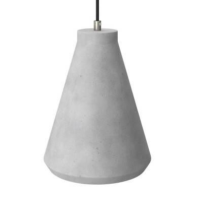 Abat-jour en ciment Entonnoir avec serre-câble et douille E27