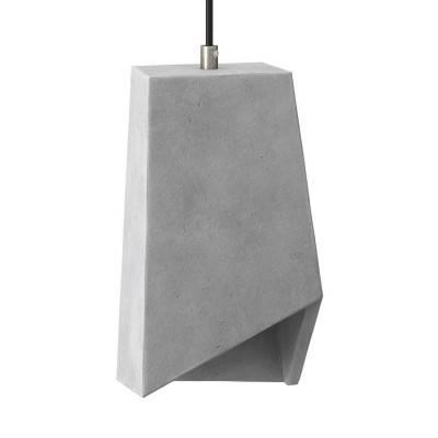 Abat-jour en ciment Prisme avec serre-câble et douille E27