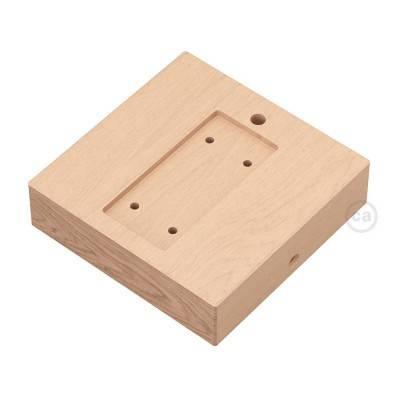 Vierkante basis wandbevestiging voor Archet(To) in natuurlijk hout