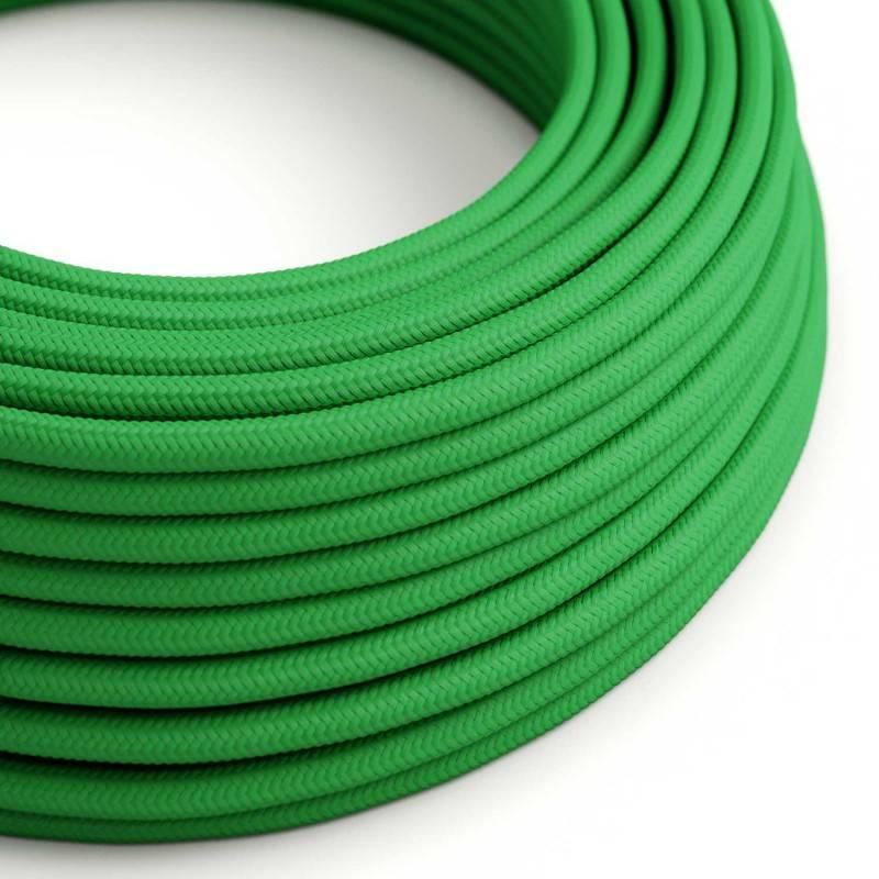 Ronde flexibele electriciteit textielkabel van viscose. RM06 - groen