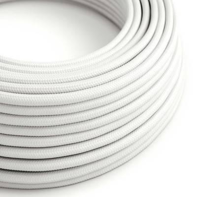 Ronde flexibele electriciteit textielkabel van viscose. RM01 - wit