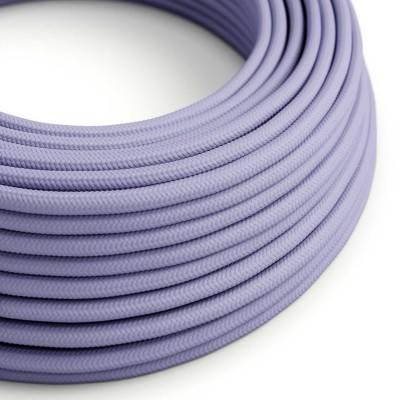 Ronde flexibele electriciteit textielkabel van viscose. RM07 - lila