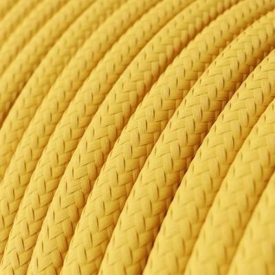 Ronde flexibele electriciteit textielkabel van viscose. RM10 - geel