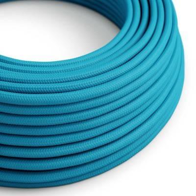 Ronde flexibele electriciteit textielkabel van viscose. RM11 - hemelsblauw