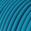 Fil Électrique Rond Gaine De Tissu De Couleur Effet Soie Tissu Uni Turquoise RM11
