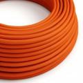 Ronde flexibele electriciteit textielkabel van viscose. RM15 - oranje
