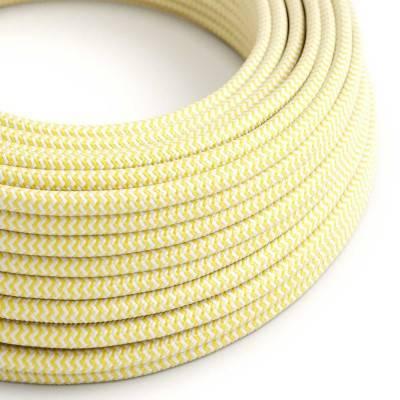 Ronde flexibele electriciteit textielkabel van viscose. RZ10 - geel