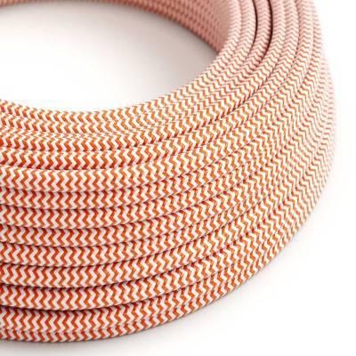 Ronde flexibele electriciteit textielkabel van viscose. RZ15 - oranje
