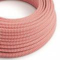 Ronde flexibele electriciteit textielkabel van viscose. RZ09 - rood