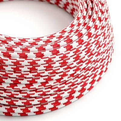 Ronde flexibele electriciteit textielkabel van viscose. TO207 - rood