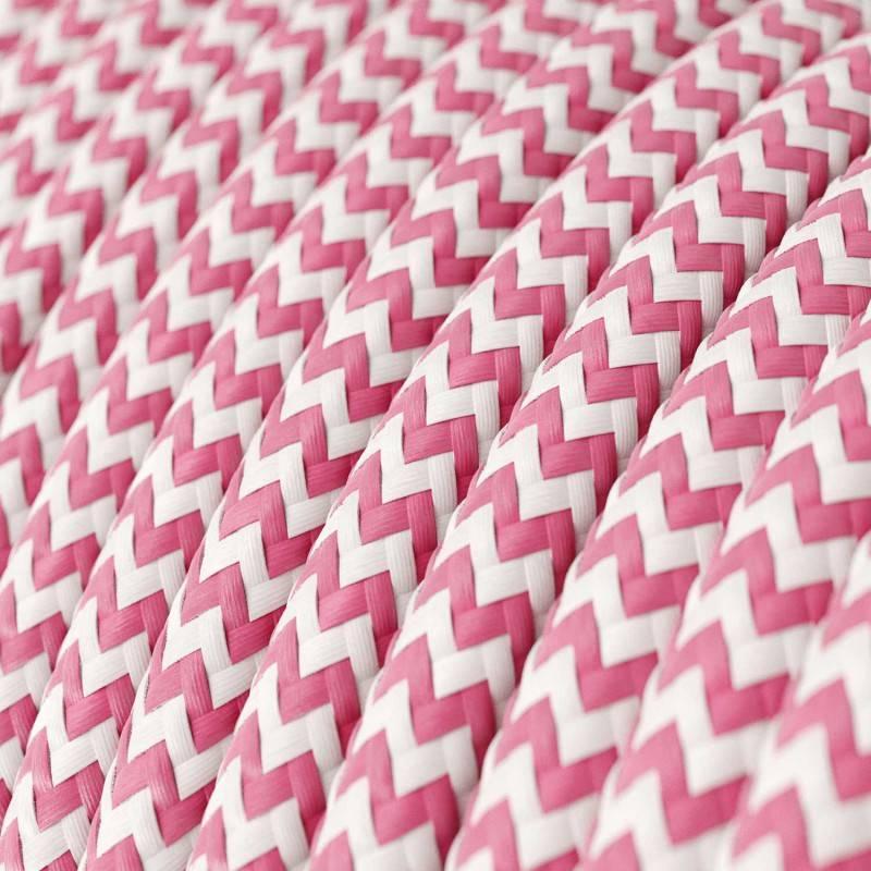 Ronde flexibele electriciteit textielkabel van viscose. RZ08 - fuchsia