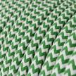 Ronde flexibele electriciteit textielkabel van viscose. RZ06 - groen
