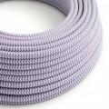 Ronde flexibele electriciteit textielkabel van viscose. RZ07 - lila