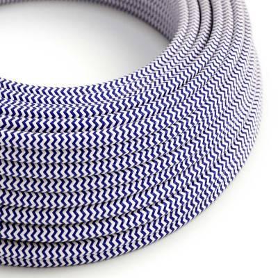 Ronde flexibele electriciteit textielkabel van viscose. RZ12 - blauw