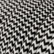 Klassiek rond strijkijzersnoer van viscose. RZ04 - zwart/wit