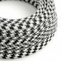 Ronde flexibele electriciteit textielkabel van viscose. TO212- zwart