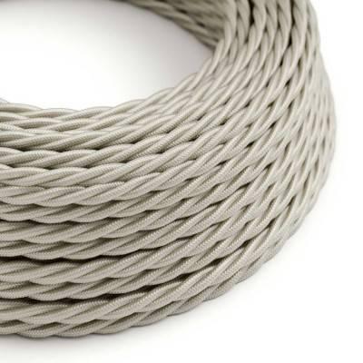 Gevlochten flexibele electriciteit textielkabel van viscose. TM00 - ivoor
