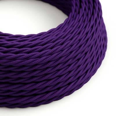 Gevlochten flexibele electriciteit textielkabel van viscose. TM14 - paars
