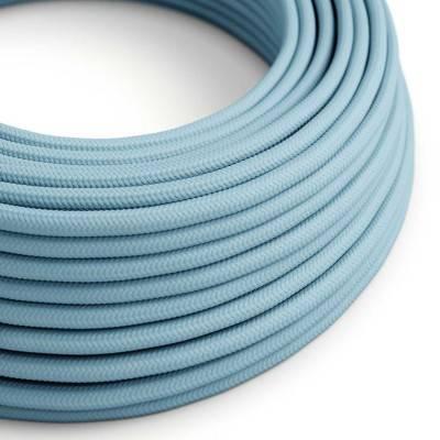 Ronde flexibele electriciteit textielkabel van viscose. RM17 - baby blauw