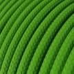 Ronde flexibele electriciteit textielkabel van viscose. RM18 - limoen groen