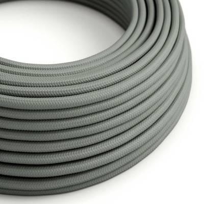 Ronde flexibele electriciteit textielkabel van viscose. RM03 - grijs