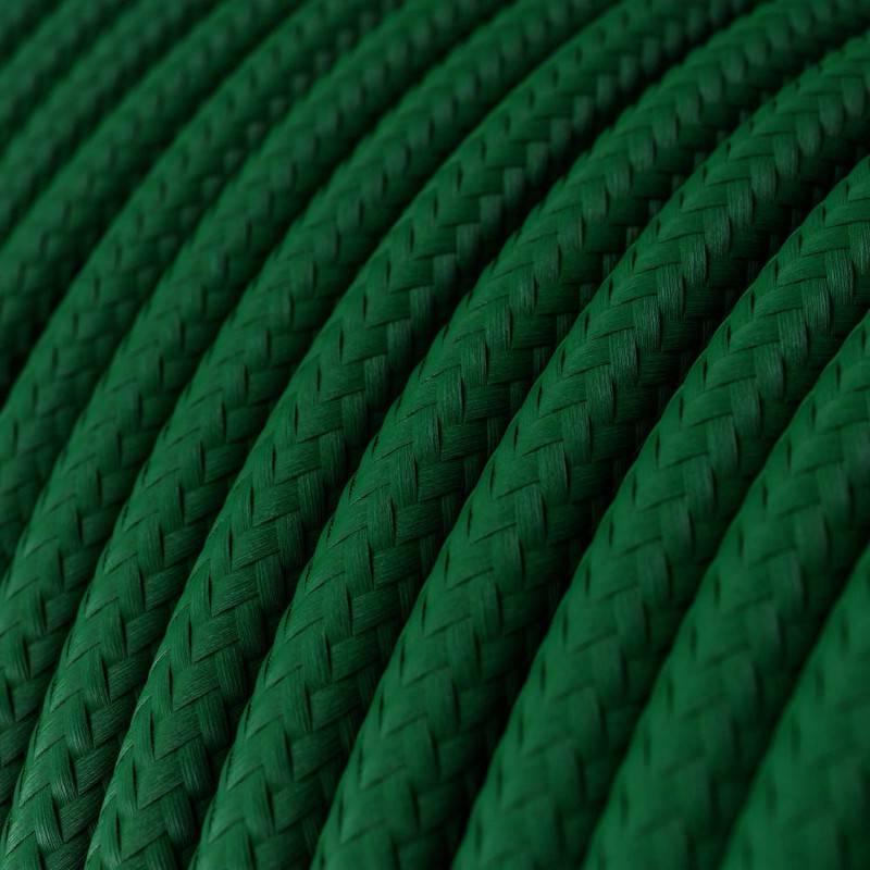 Ronde flexibele electriciteit textielkabel van viscose. RM21 - donkergroen