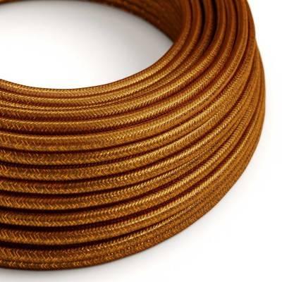 Ronde flexibele glinsterende electriciteit textielkabel van viscose. RL22 - koper
