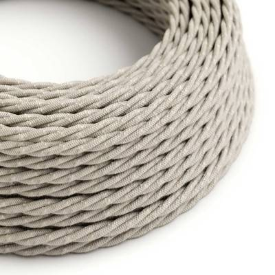 Gevlochten flexibel strijkijzersnoer van linnen. TN01 - natuurlijk neutraal