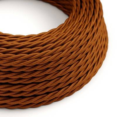 Gevlochten flexibele electriciteit textielkabel van viscose. TM22 - whiskey