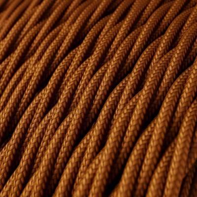 Fil Électrique Torsadé Gaine De Tissu De Couleur Effet Soie Whiskey TM22