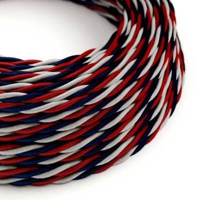 Gevlochten flexibele electriciteit textielkabel van viscose. USA TZUSA