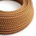 Ronde flexibele electriciteit textielkabel van viscose. RX01 - pixel oranje