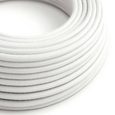 Rond flexibel strijkijzersnoer van katoen. RC01 - wit