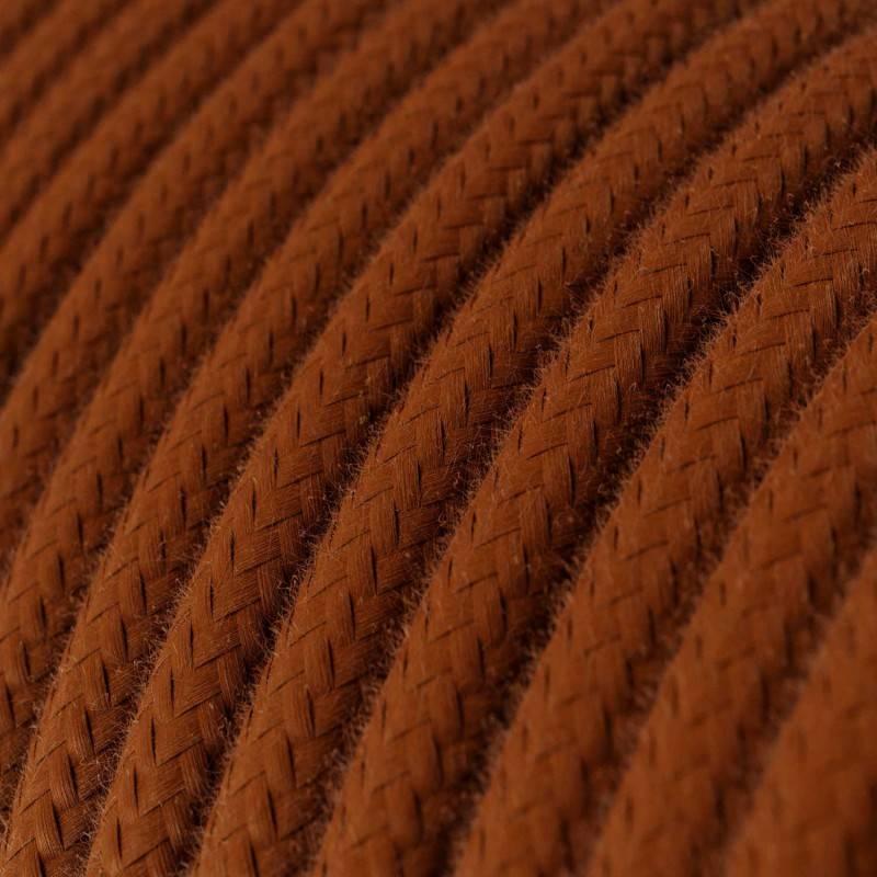 Rond flexibel strijkijzersnoer van katoen. RC23 - hert bruin