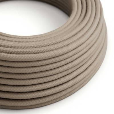 Rond flexibel strijkijzersnoer van katoen. RC43 - ecru