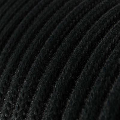 Rond flexibel strijkijzersnoer van katoen. RC04 - zwart