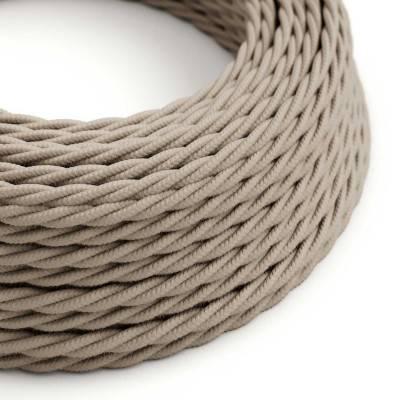 Gevlochten flexibel strijkijzersnoer van katoen. TC43 - ecru