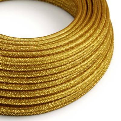Ronde flexibele glinsterende electriciteit textielkabel van viscose. RL05 - goud