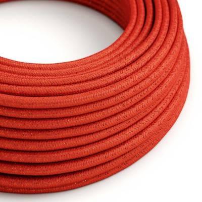 Ronde flexibele glinsterende electriciteit textielkabel van viscose. RL09 - rood