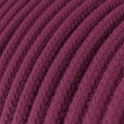 Rond flexibel strijkijzersnoer van katoen. RC32 - burgundy