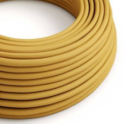 Ronde flexibele electriciteit textielkabel van viscose. RM25 - mosterd geel