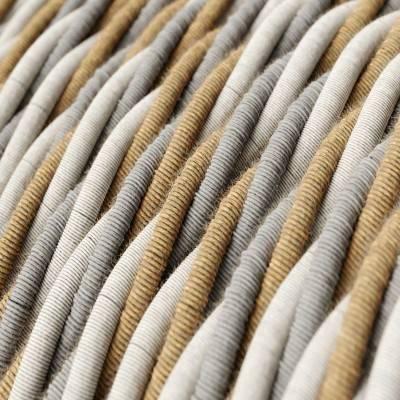 Fil Électrique Torsadé Recouvert en Jute, Coton et Lin Naturel Country TN07
