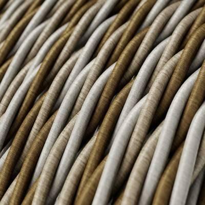 Fil Électrique Torsadé Gaine De Tissu De Couleur Effet Soie Windsor TG01