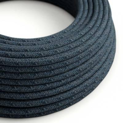 Rond flexibel strijkijzersnoer van katoen - Mirage blauw RX10